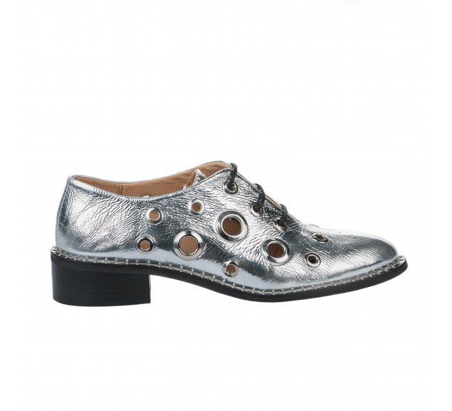 Chaussures à lacets femme - ALPE - Gris argent