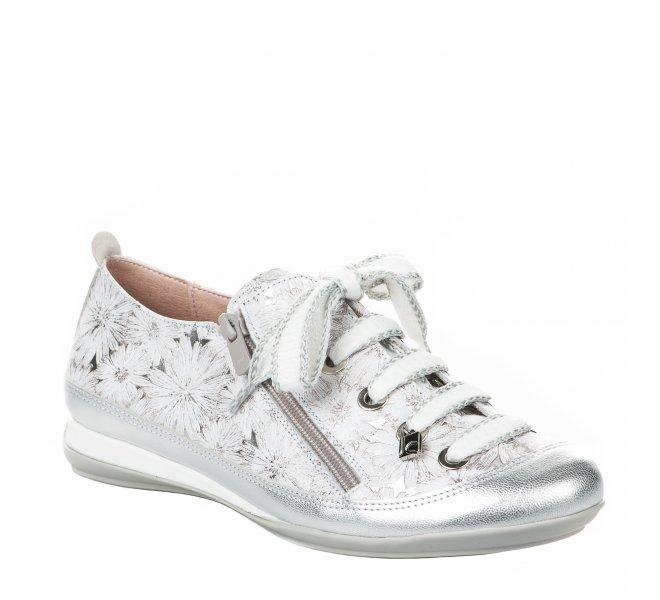 Chaussures de confort femme - JOSE SAENZ - Gris argent