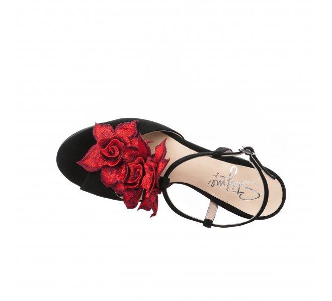 Nu pieds femme - STYME - Noir