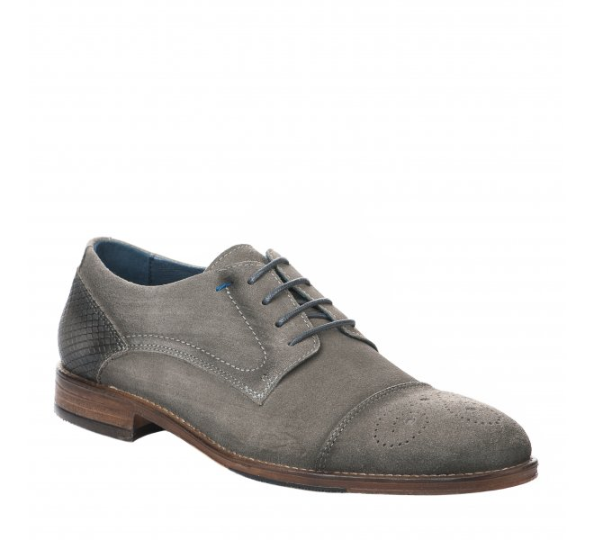 Chaussures à lacets homme - FIRST COLLECTIVE - Gris