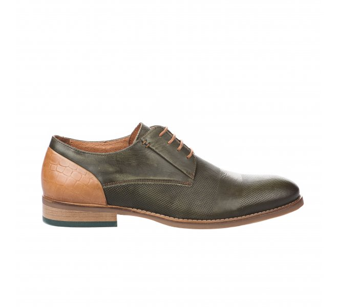Chaussures à lacets homme - FIRST COLLECTIVE - Kaki