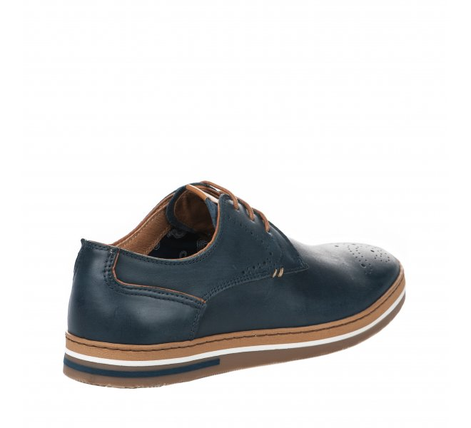 Chaussures à lacets homme - FIRST COLLECTIVE - Bleu