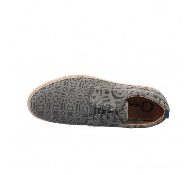 Espadrilles homme - FIRST COLLECTIVE - Gris