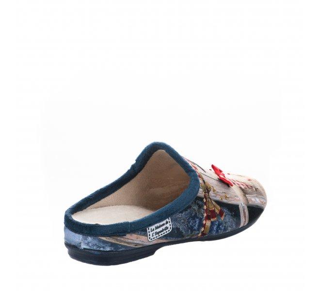 Pantoufles femme - LA MAISON DE L'ESPADRILLE - Bleu