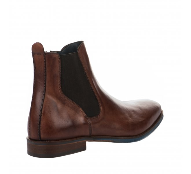 Boots homme - FIRST COLLECTIVE - Marron cognac
