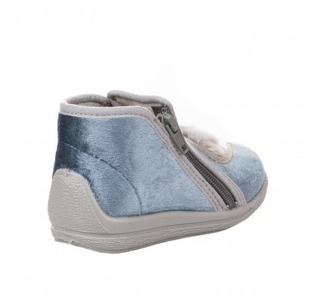 Pantoufles fille - BELLAMY - Gris bleu