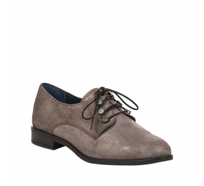 chaussure cuir à lacet femme