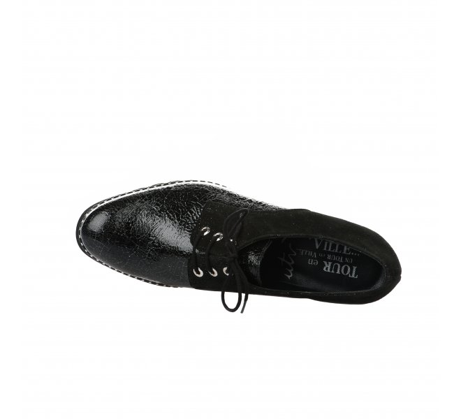 Chaussures à lacets femme - UN TOUR EN VILLE - Noir