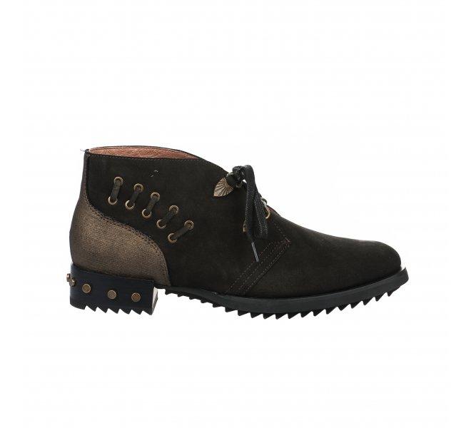 Chaussures à lacets femme - MAM'ZELLE - Kaki