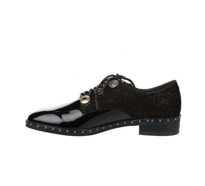 Chaussures à lacets femme - MAM'ZELLE - Noir verni