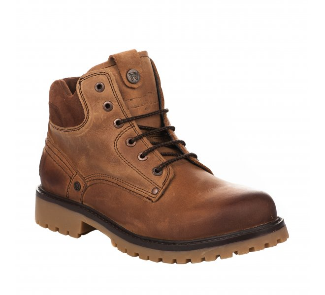 Bottines homme - WRANGLER - Marron cognac