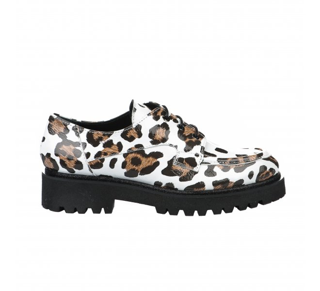 Chaussures à lacets femme - LOUISA - Blanc verni