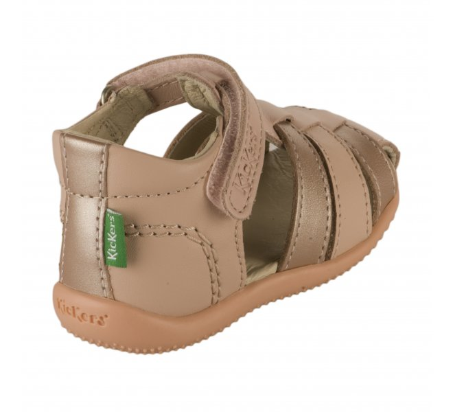 Nu-pieds fille - KICKERS - Rose poudre
