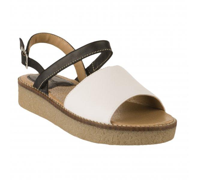 Nu pieds femme - KICKERS - Bicolore