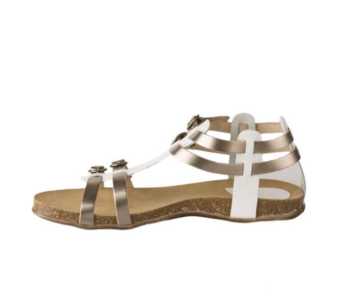 Nu pieds femme - KICKERS - Blanc