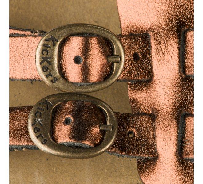 Nu pieds femme - KICKERS - Bronze