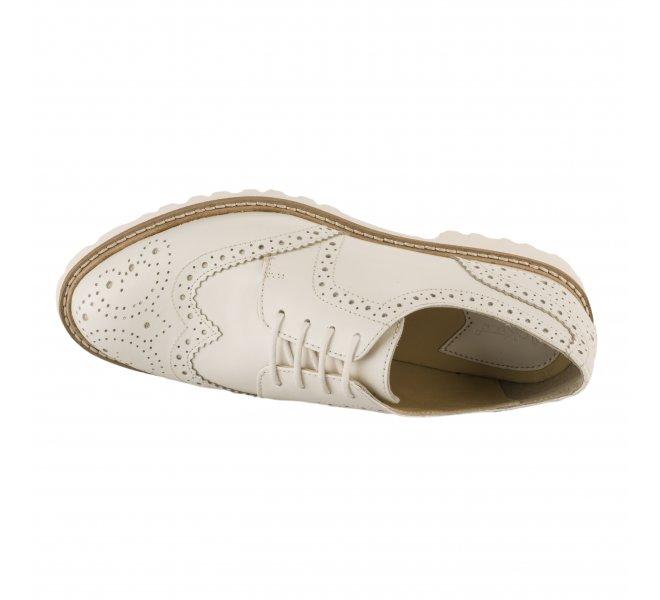 Chaussures à lacets femme - KICKERS - Blanc