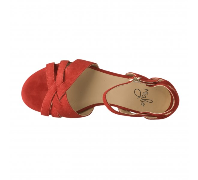Nu pieds femme - MIGLIO - Rouge