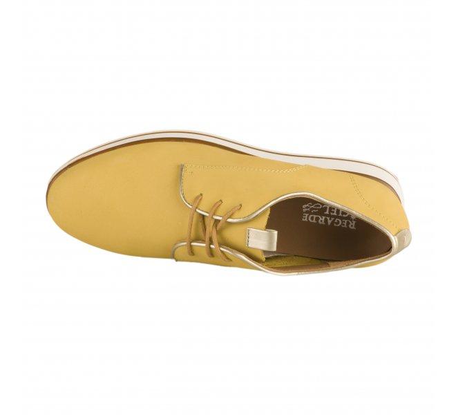 Chaussures à lacets femme - REGARDE LE CIEL - Jaune