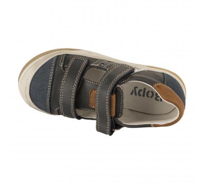 Chaussures à lacets garçon - BOPY - Bleu marine