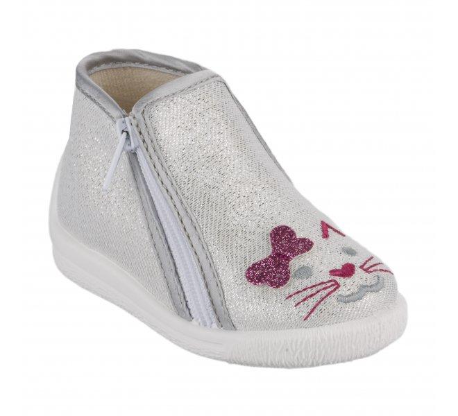 Pantoufles fille - BELLAMY - Gris perle