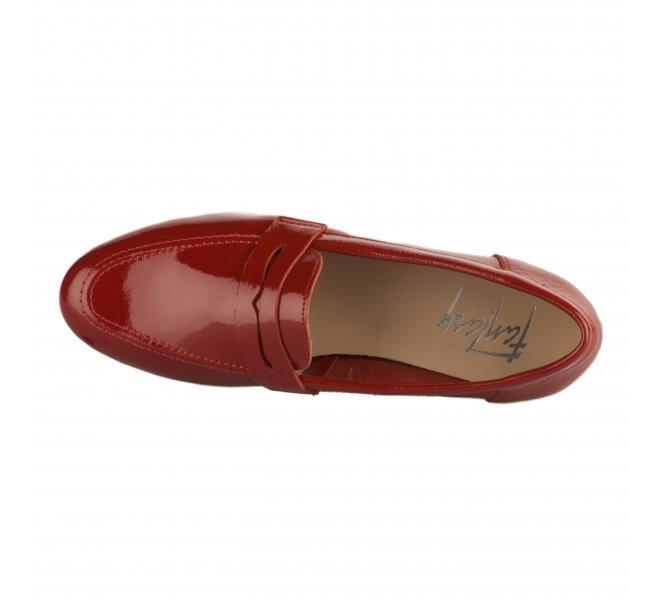 Mocassins femme - FANTASY - Rouge vernis