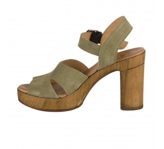 Nu pieds femme - MIGLIO - Kaki