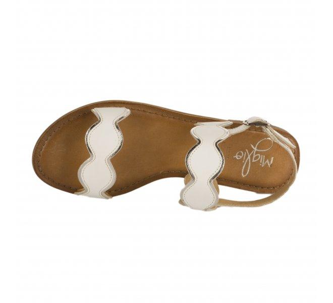 Nu pieds femme - MIGLIO - Blanc argent