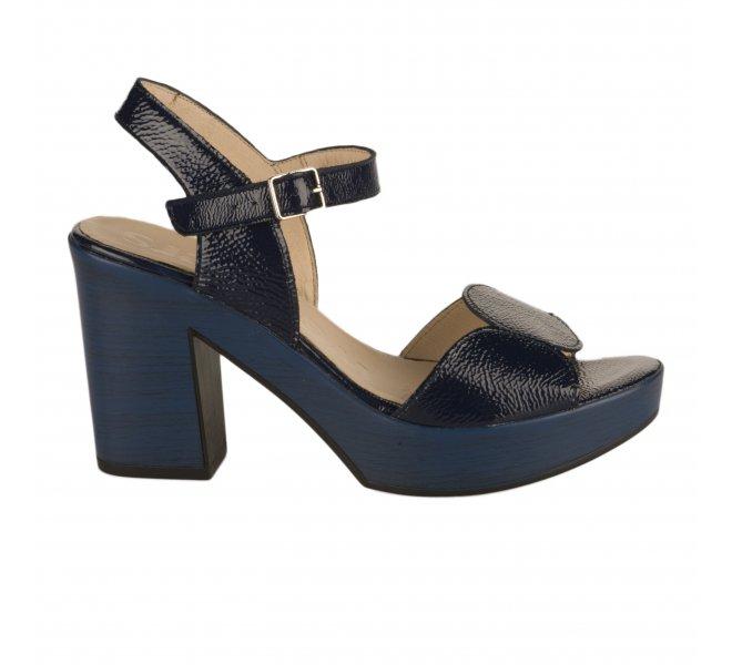 Nu pieds femme - WONDERS - Bleu verni