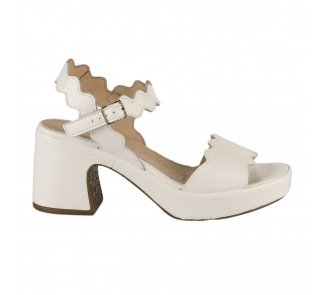 Nu pieds femme - WONDERS - Blanc verni