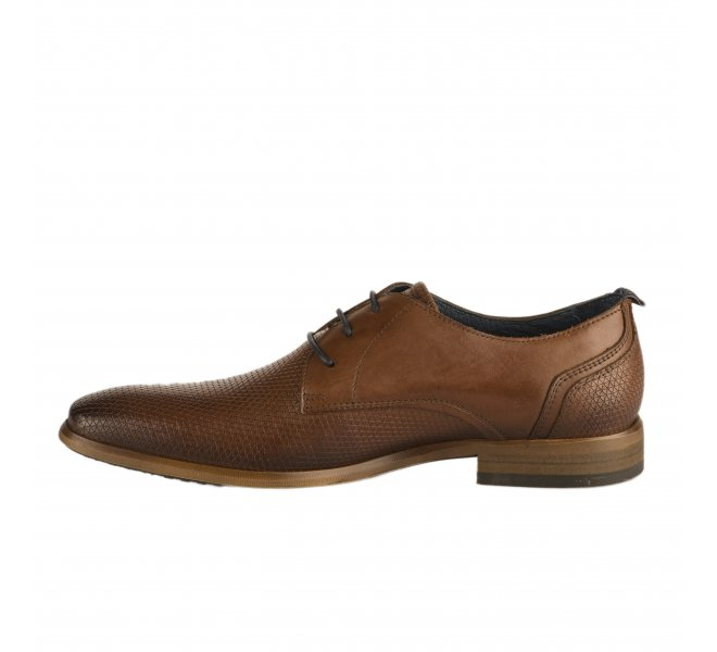 Chaussures à lacets homme - FIRST COLLECTIVE - Marron