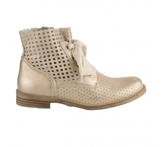 Boots femme - MIGLIO - Beige dore