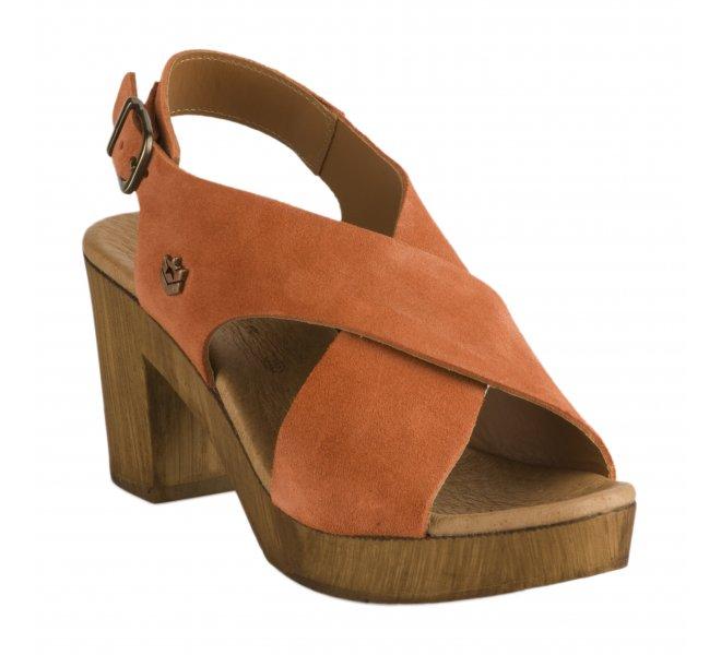 Nu pieds femme - FREEMAN - Terracotta