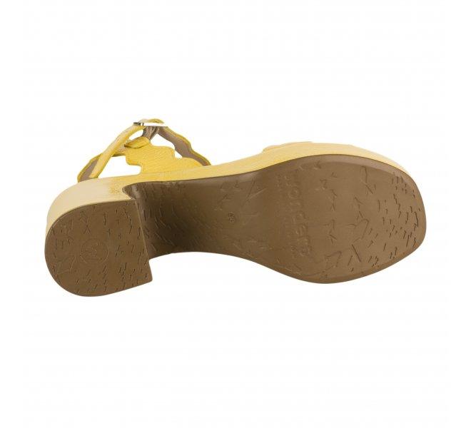 Nu pieds femme - WONDERS - Jaune