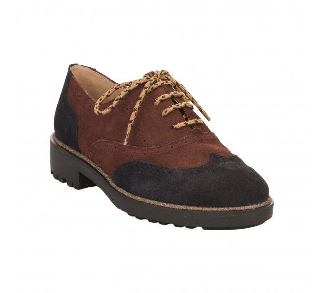 Chaussures à lacets femme - KARSTON WEB - Rouge bordeaux