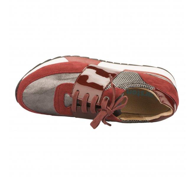 Baskets mode femme - KARSTON WEB - Rouge bordeaux