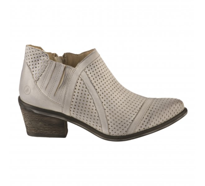 Boots femme - CASTA  - Blanc casse