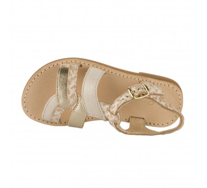 Nu-pieds fille - CHAUSSMOME - Beige dore