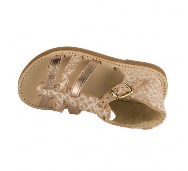Nu-pieds fille - CHAUSSMOME - Rose argentee