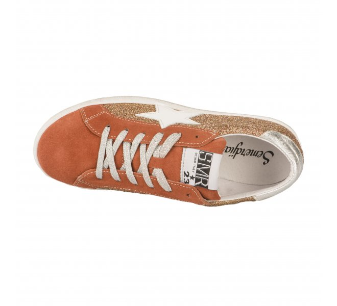 Baskets mode femme - SEMERDJIAN - Orange