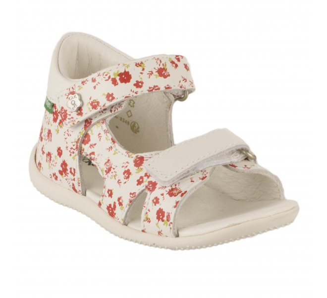 Nu-pieds fille - KICKERS - Blanc