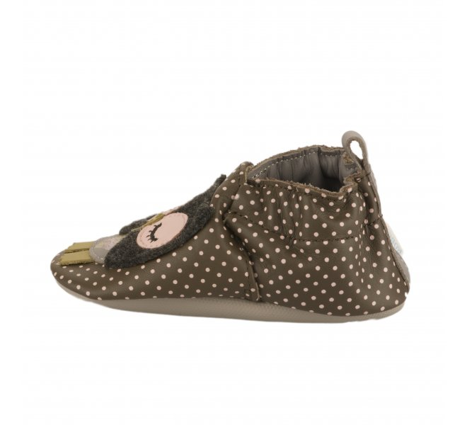 Chaussons fille - ROBEEZ - Marron fonce