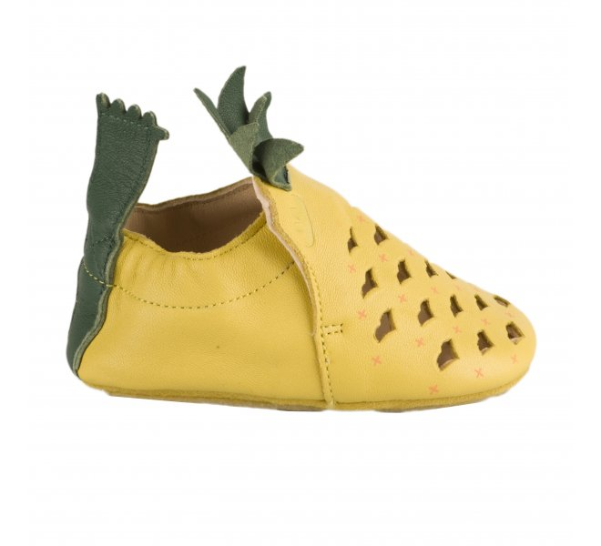 Chaussons fille - EASY PEASY - Jaune