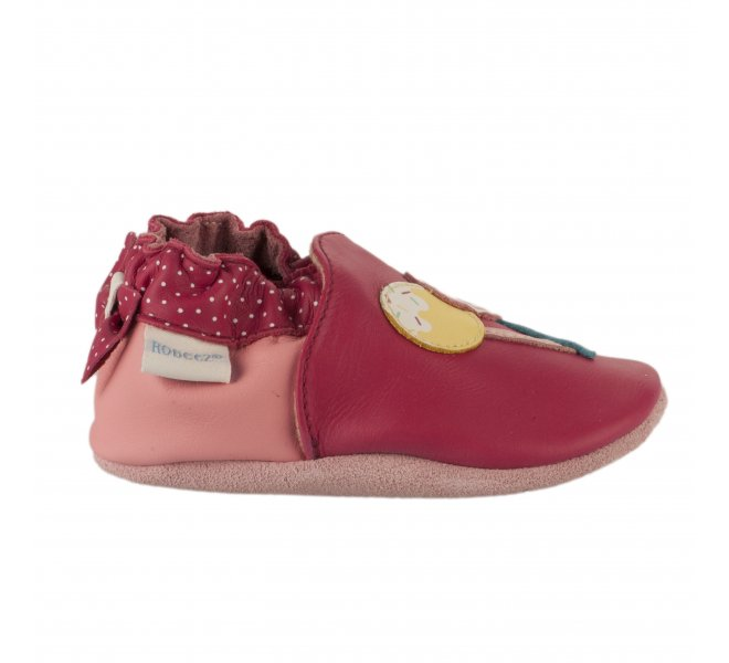 Chaussons fille - ROBEEZ - Rouge