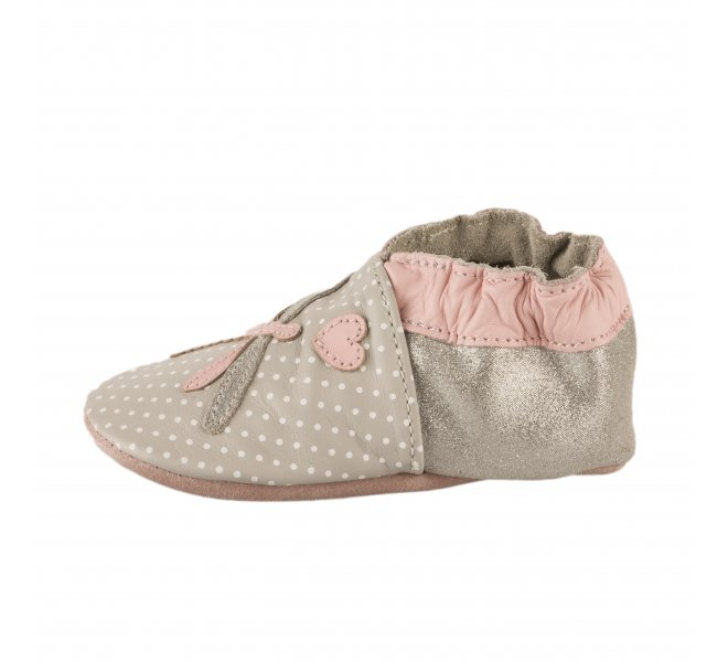 Chaussons fille - ROBEEZ - Gris