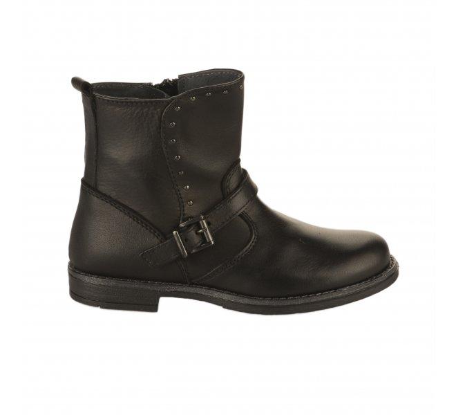 Boots fille - CHAUSSMOME - Noir