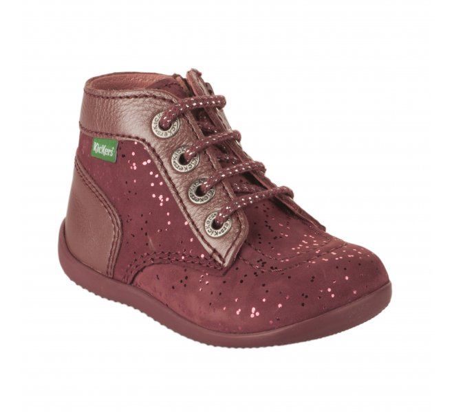 Bottines fille - KICKERS - Rose fonce