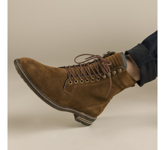 Bottines homme - REVOLTE - Naturel