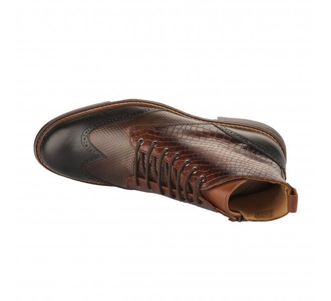 Bottines homme - FIRST COLLECTIVE - Marron fonce