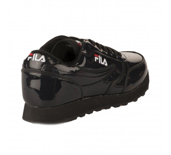 Baskets fille - FILA - Noir verni
